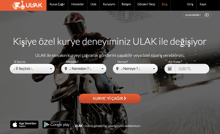 "In the Ottoman Empire, the messengers who conveyed important news were called ""Ulak"". Ulak as an app is important in the delivery sector."