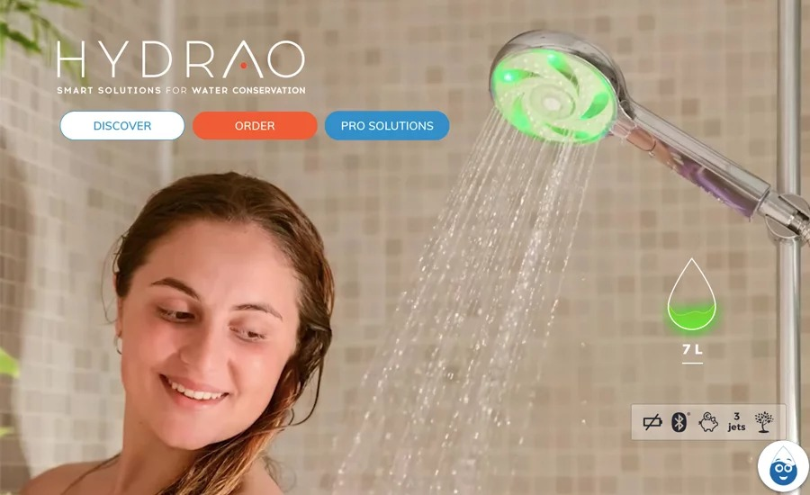 Hydrao offers a smart way to create habits focused on water saving and monitors your water usage. Eric Burkel told about their journey.