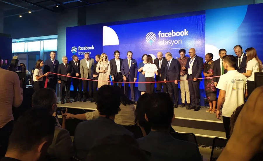 "Facebook's first community center in Turkey ""Facebook Station"" opened in collaboration with TOBB and Habitat Association."