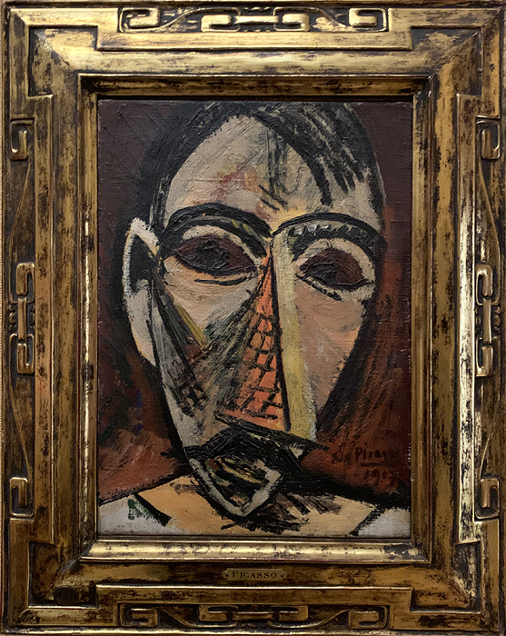 The Head of a Man, Painting by Picasso