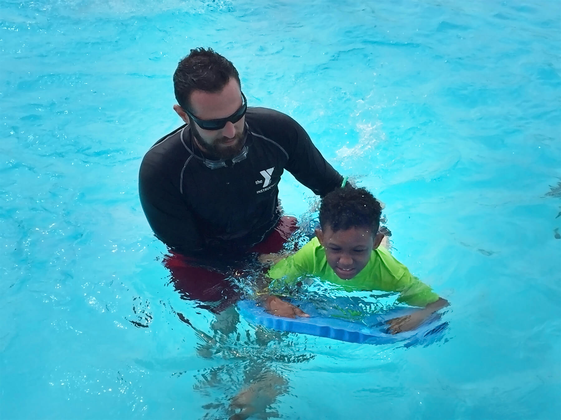Swim Lesson at L.A. Lee YMCA/ Mizell Community Center in Fort Lauderdale