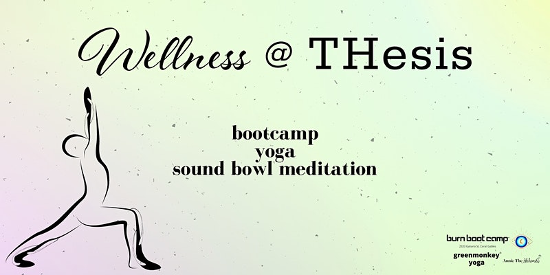 Event Flyer for Wellness at THesis Hotel