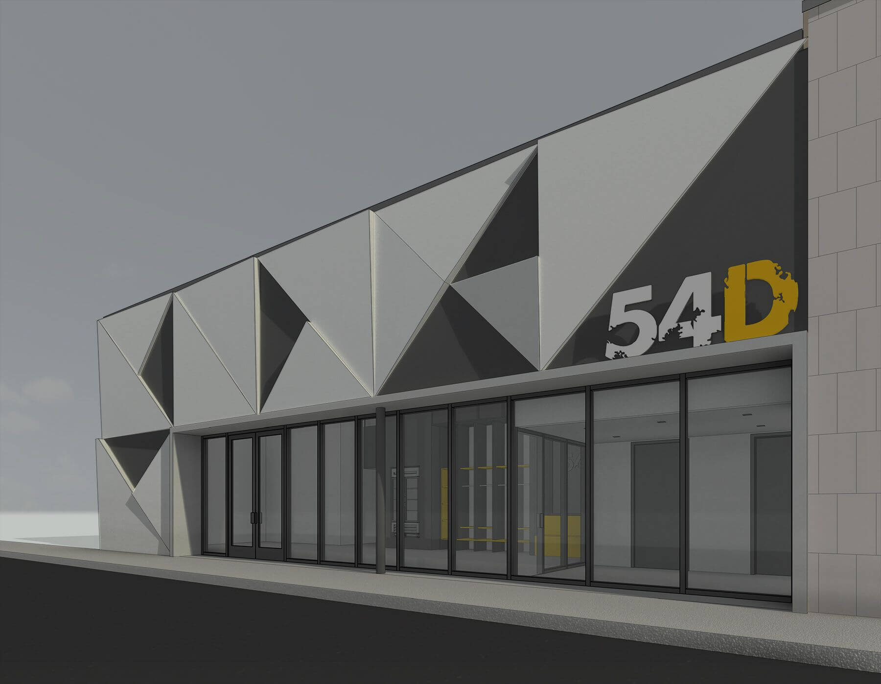 rendering of future 54D store front location