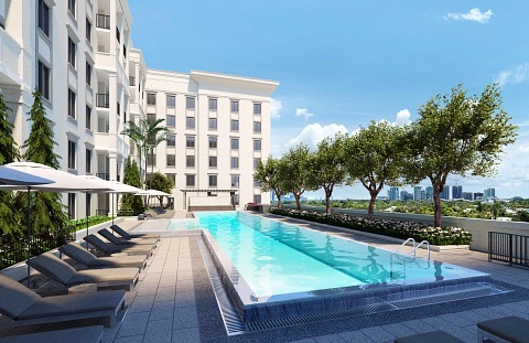 Pool at Life Time Living Coral Gables