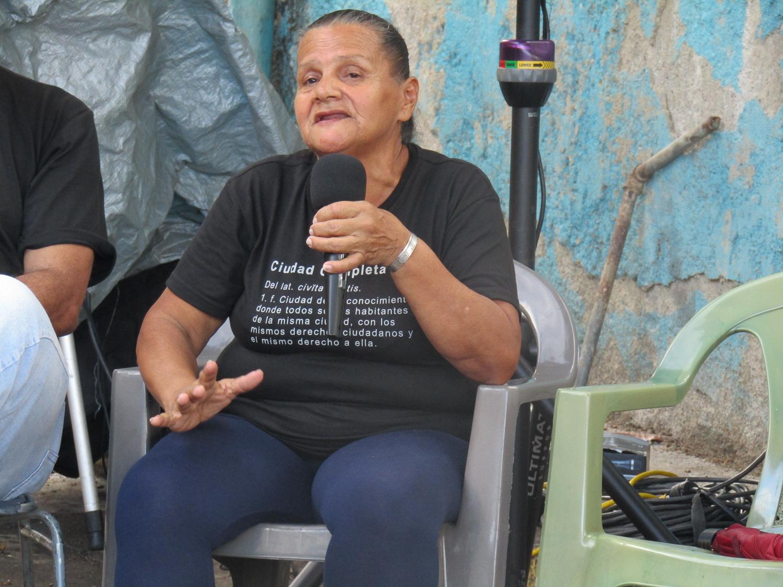 Martina Arriaga en el Encuentro de Fundadores de La Palomera, fotografía por Reguló Gómez
