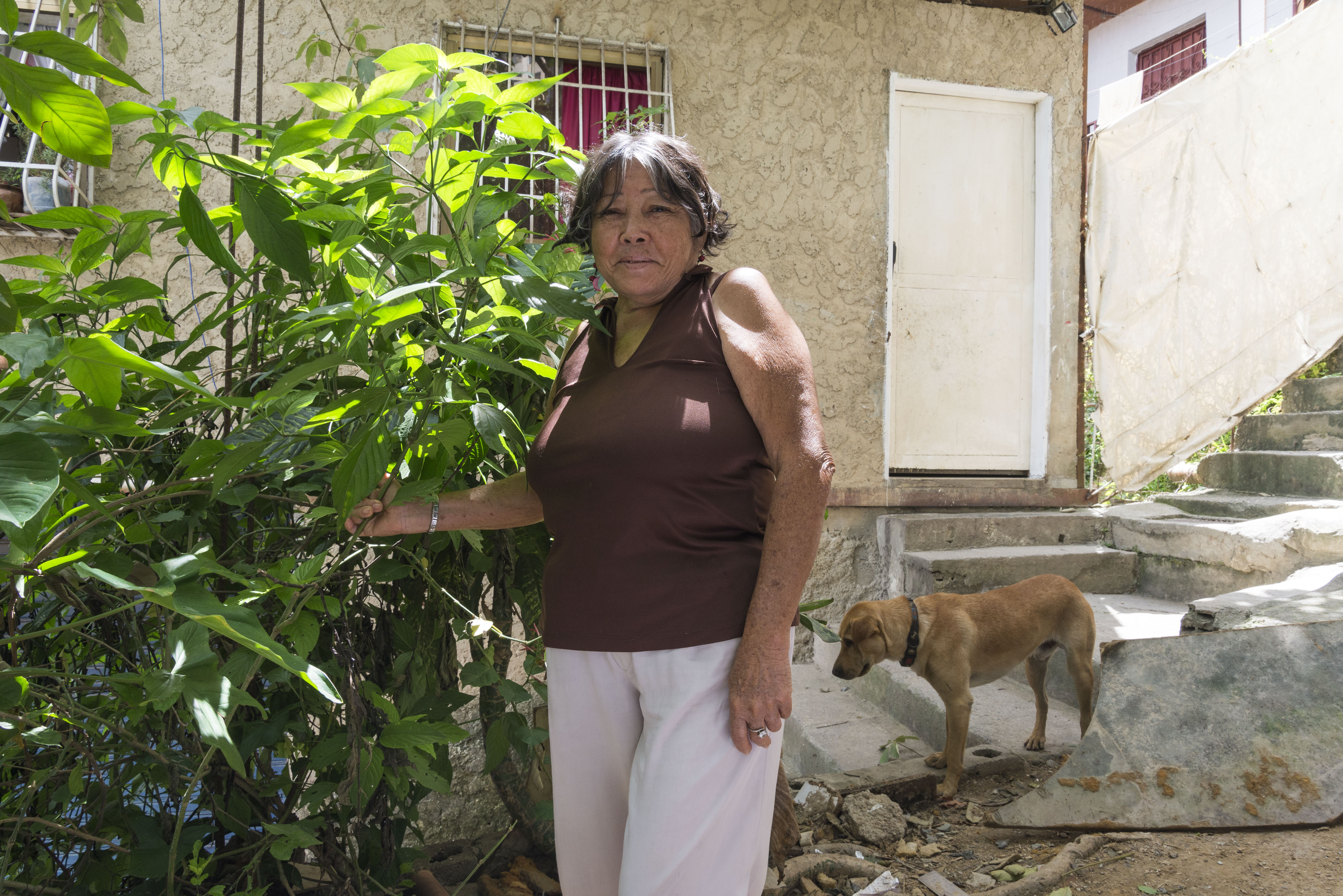 María en su jardín, fotografía por Gabriel Nass