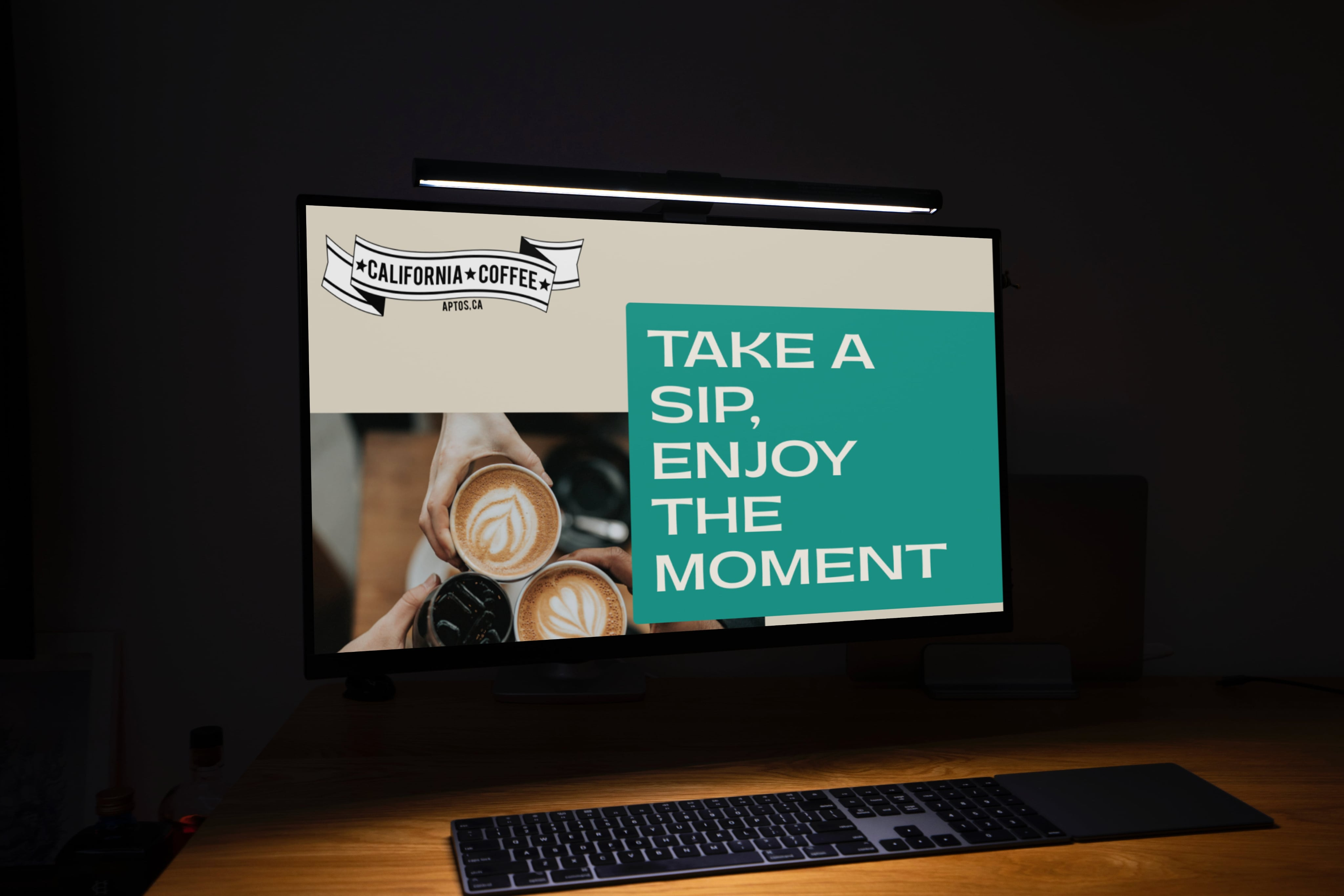 Computer screen showing California Coffee