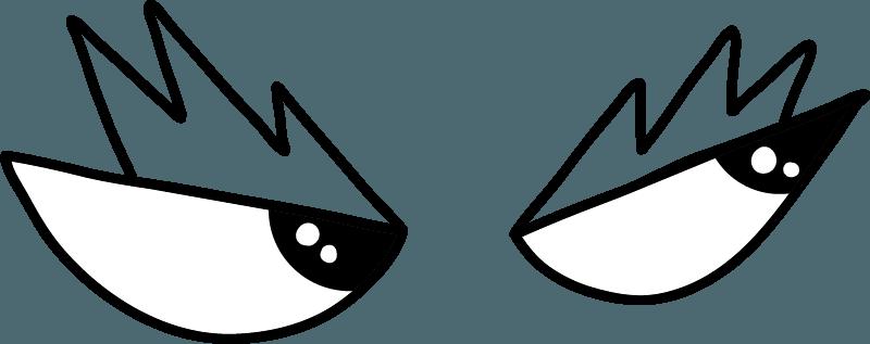 Dragon eyes looking right