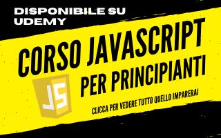 Corso JavaScript per principianti a 12,99 su Udemy