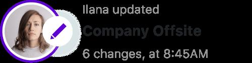 Ilana user activity log