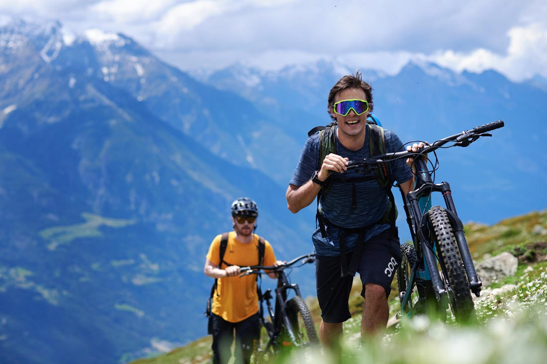 earn your trails with hike and bike