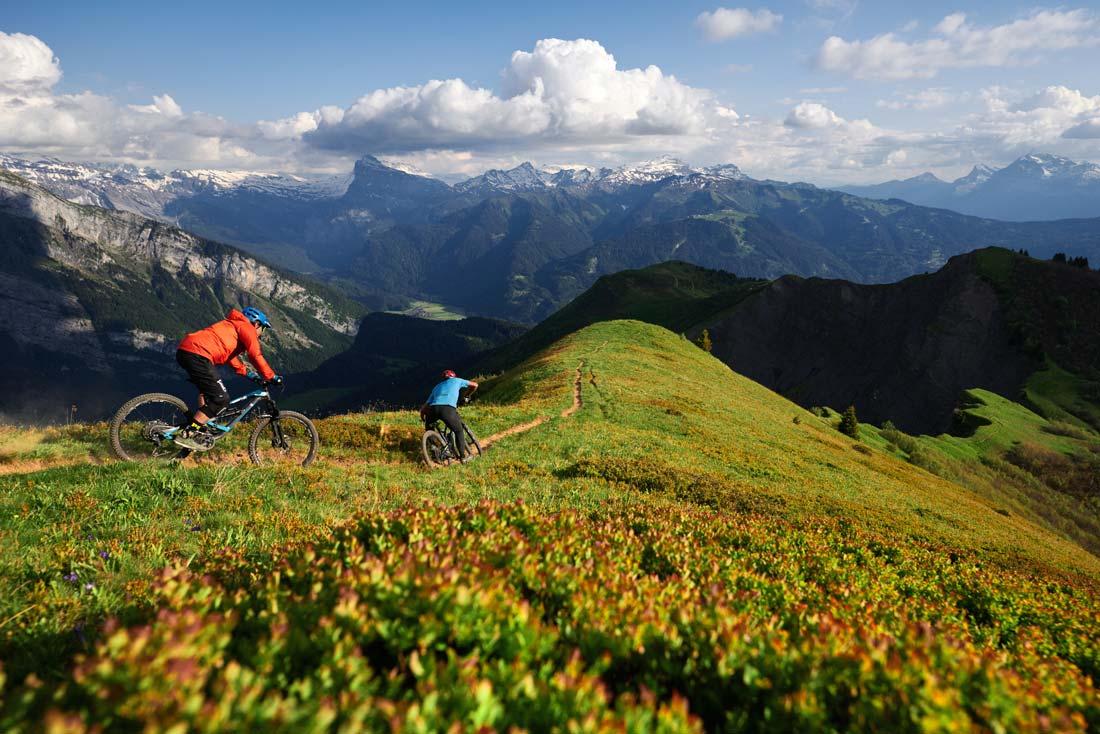 Mountain biking in Samoens
