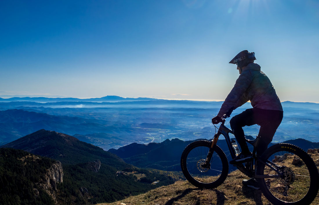 Scouting for the next best trail in Berga, Spain