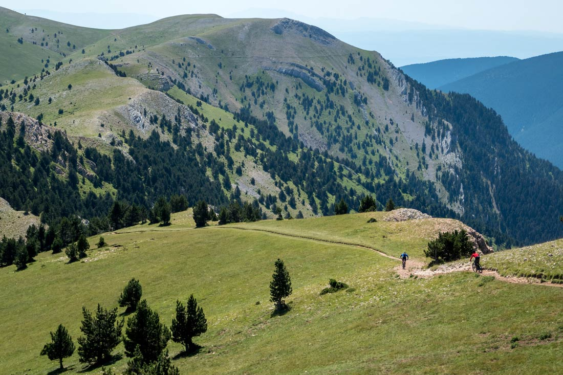 There is more mountain bike trails like this in the Pyrenees
