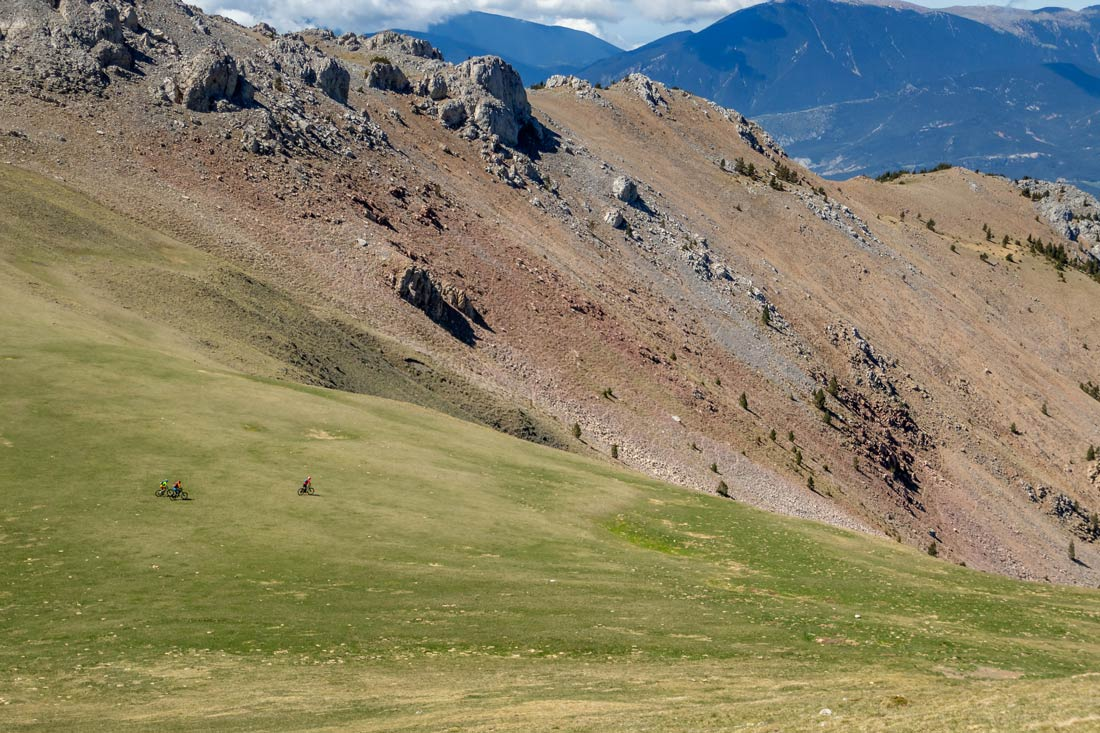 Perfectly shaped single tracks for mountain biking