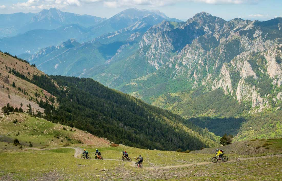 Berga offers perfect terrain for a mountain bike holiday