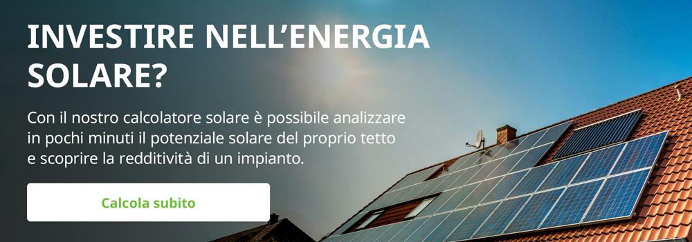 calcola se vale la pena per te investire in un impianto solare