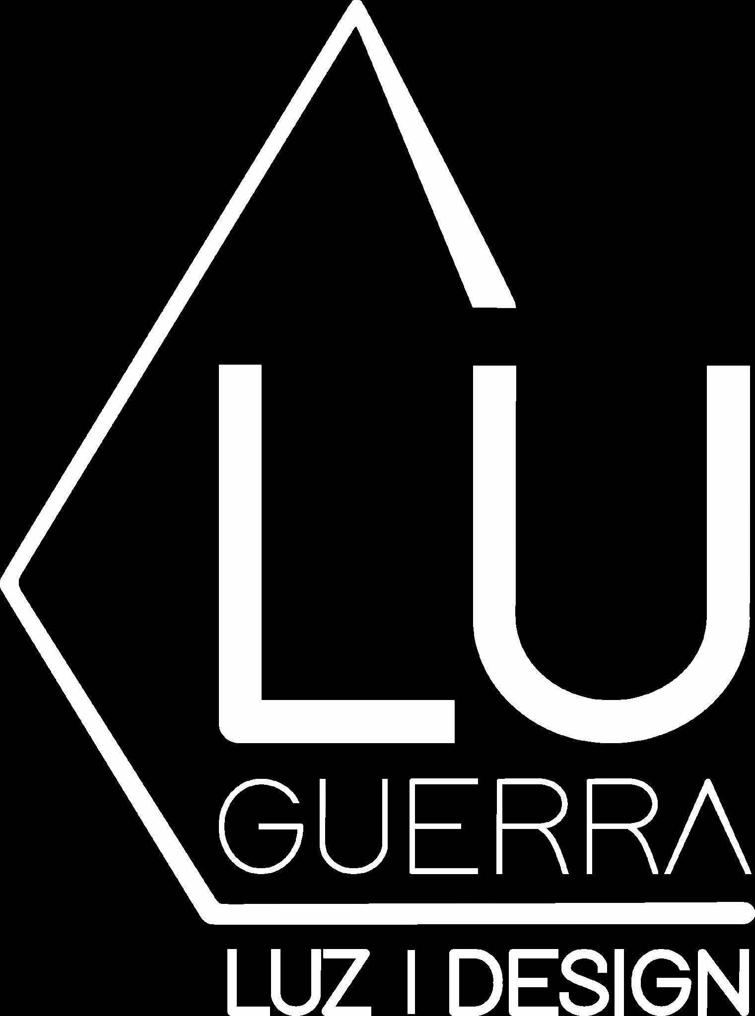 Lu Guerra - Lighting Design - Logo Branco