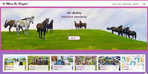 A screenshot of 'It Must Be Dingle!'s website