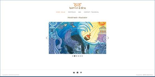 A screenshot of Dómhnal Ó Bric's website