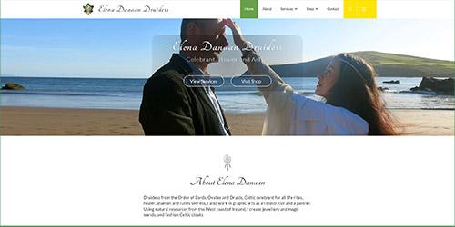 A screenshot of Elena Danaan's website