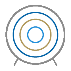 A target icon for the first stage in our process, setting a target
