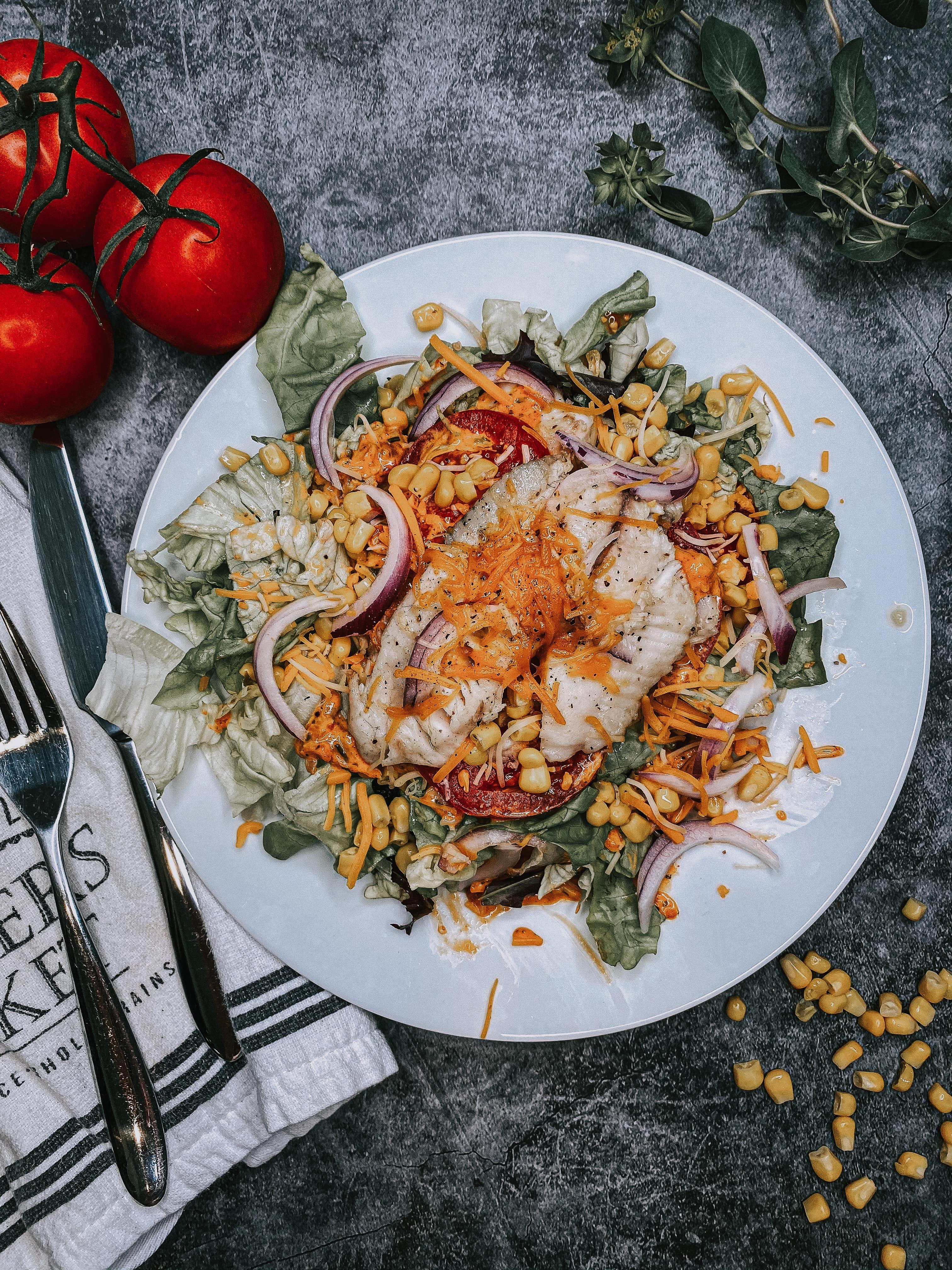 Mely's Fish Southwest Salad