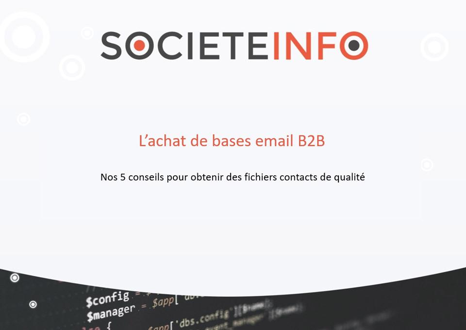 Acheter des bases email B2B