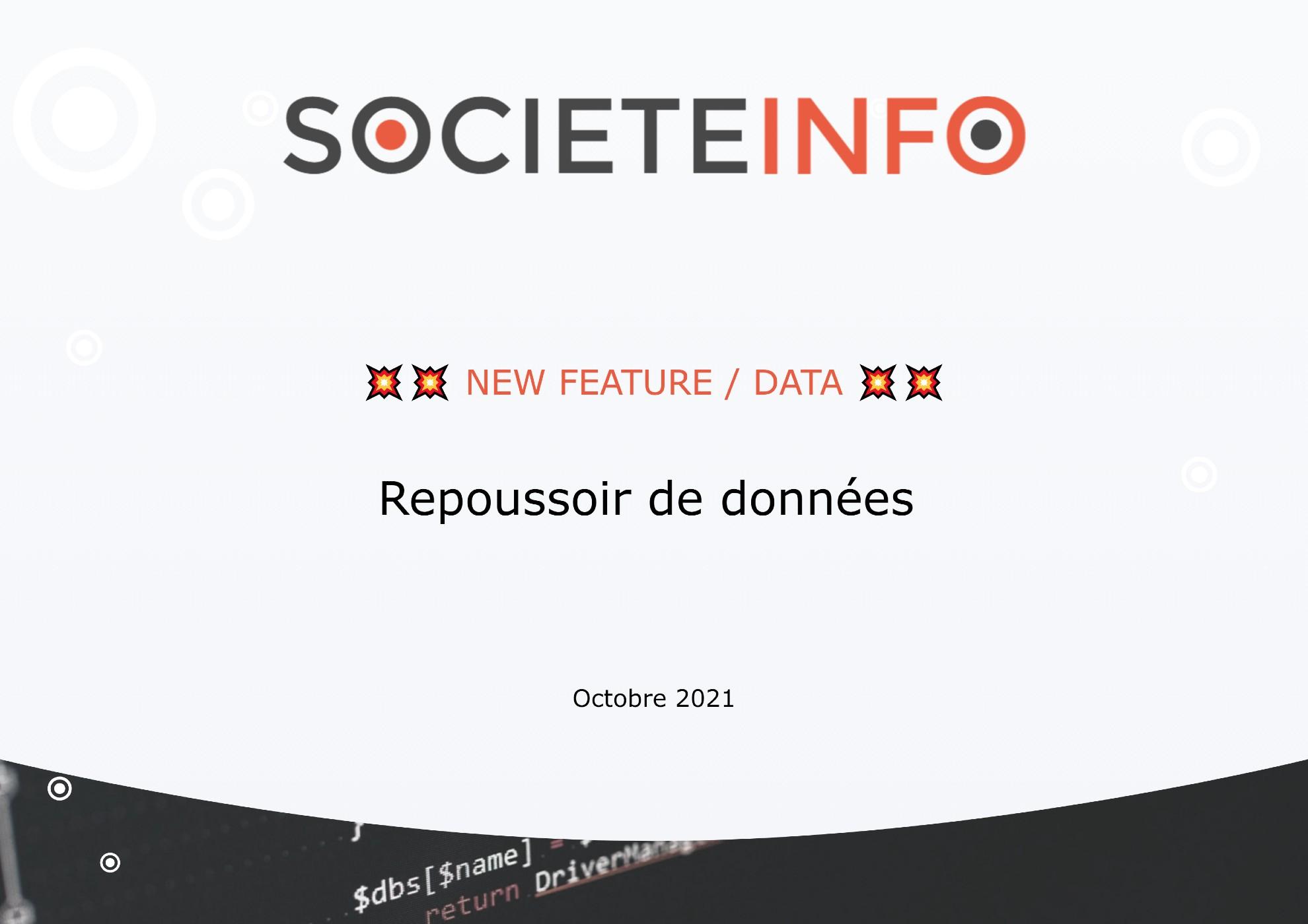 Repoussoir de données | SocieteInfo