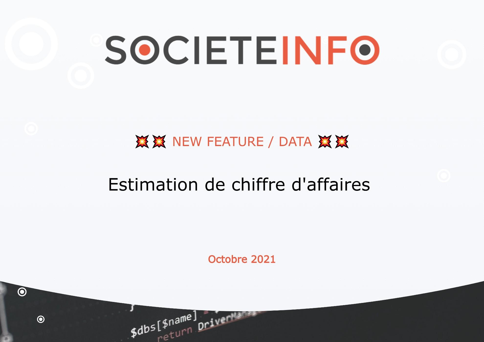 Estimation de chiffre d'affaires | SocieteInfo