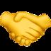 smiley poignée de main, symbolisant le partage