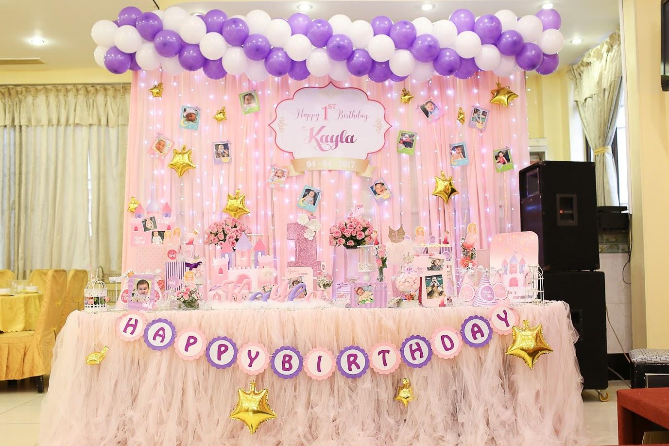 trang trí sinh nhật cho bé gái 1 tuổi