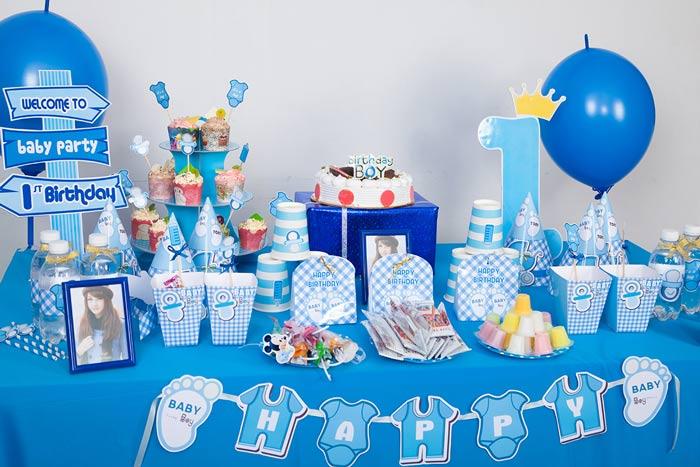 trang trí sinh nhật cho bé trai đơn giản