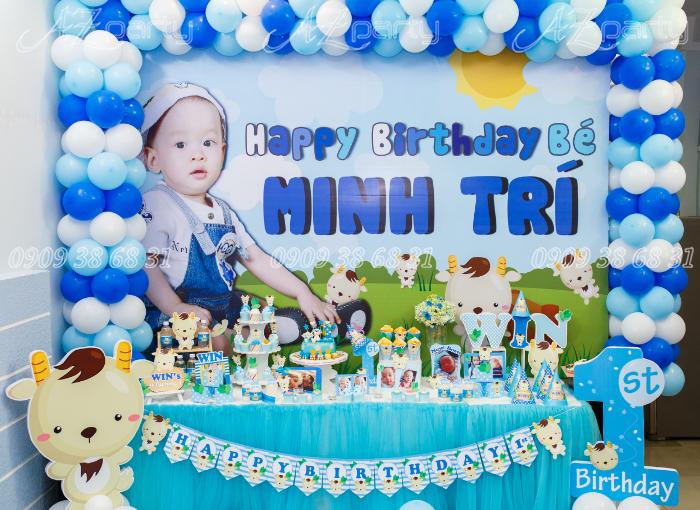 trang trí sinh nhật cho bé trai 1 tuổi