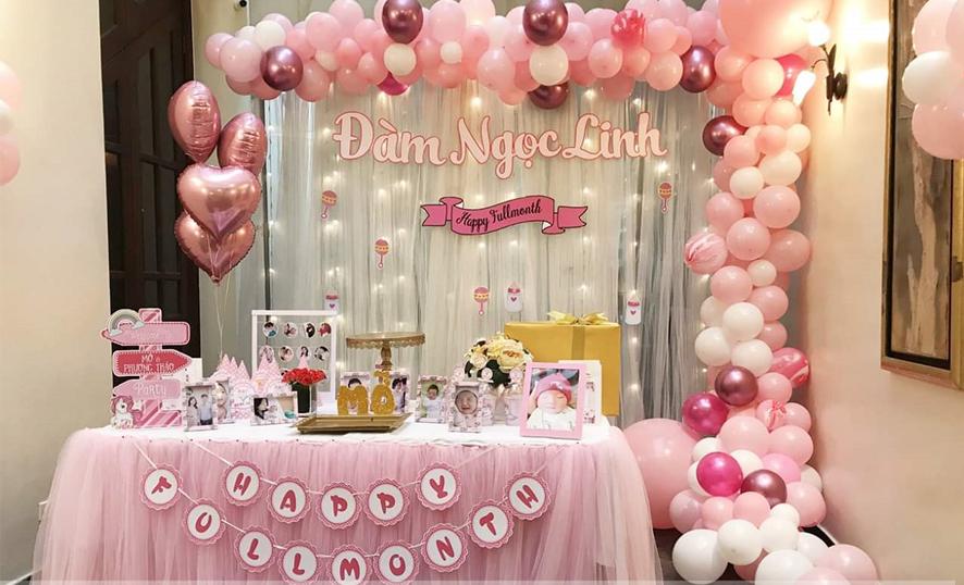trang trí sinh nhật màu hồng