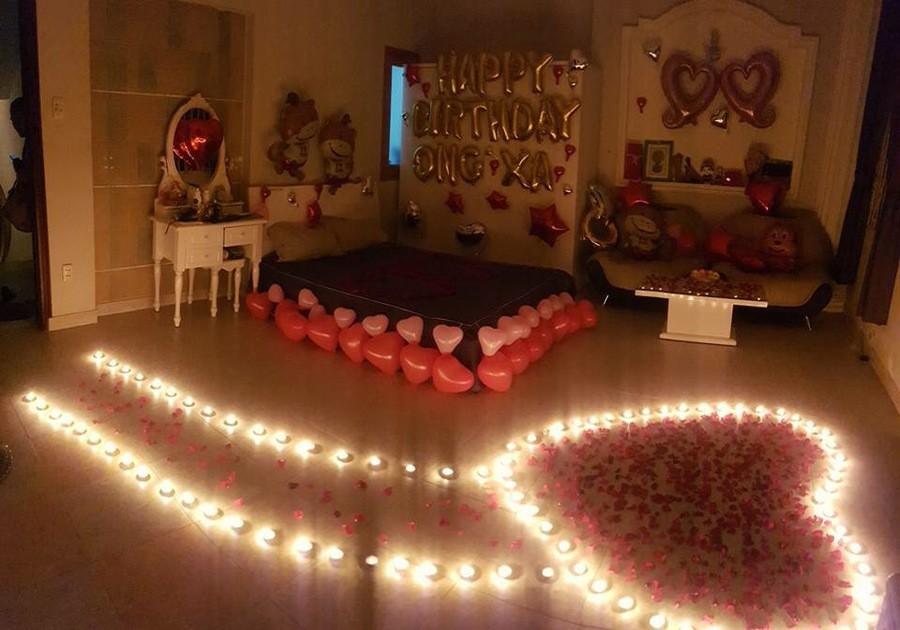 trang trí sinh nhật lãng mạn cho người yêu