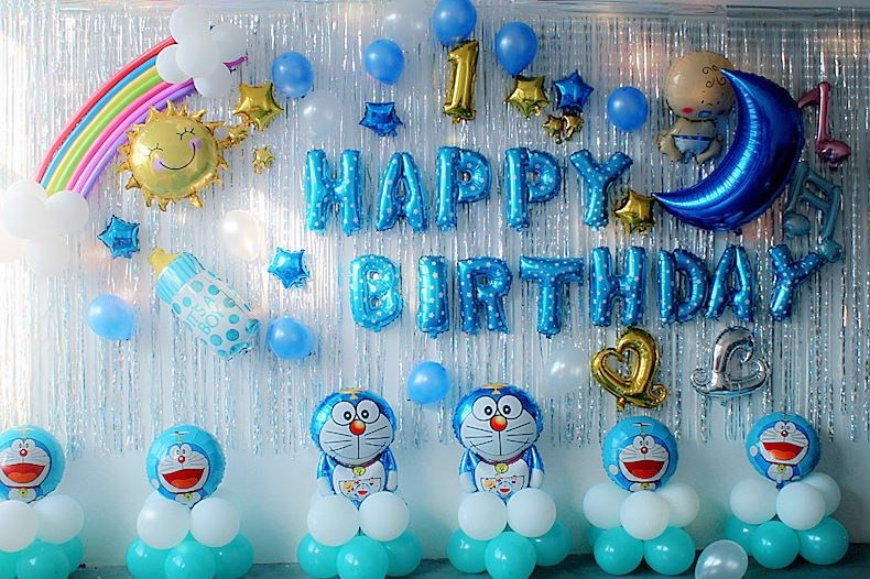 trang trí sinh nhật doremon