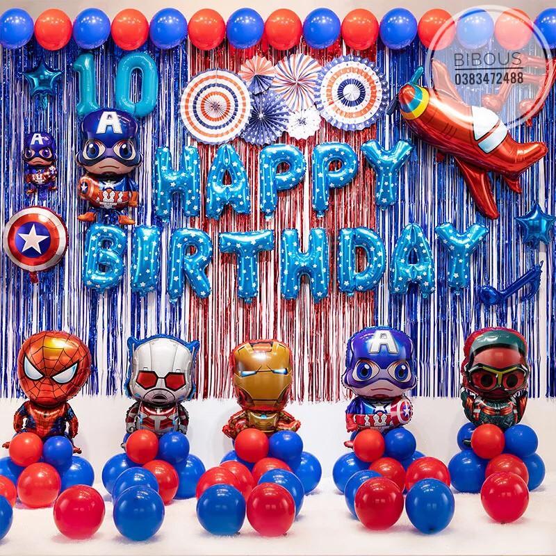 trang trí sinh nhật siêu nhân