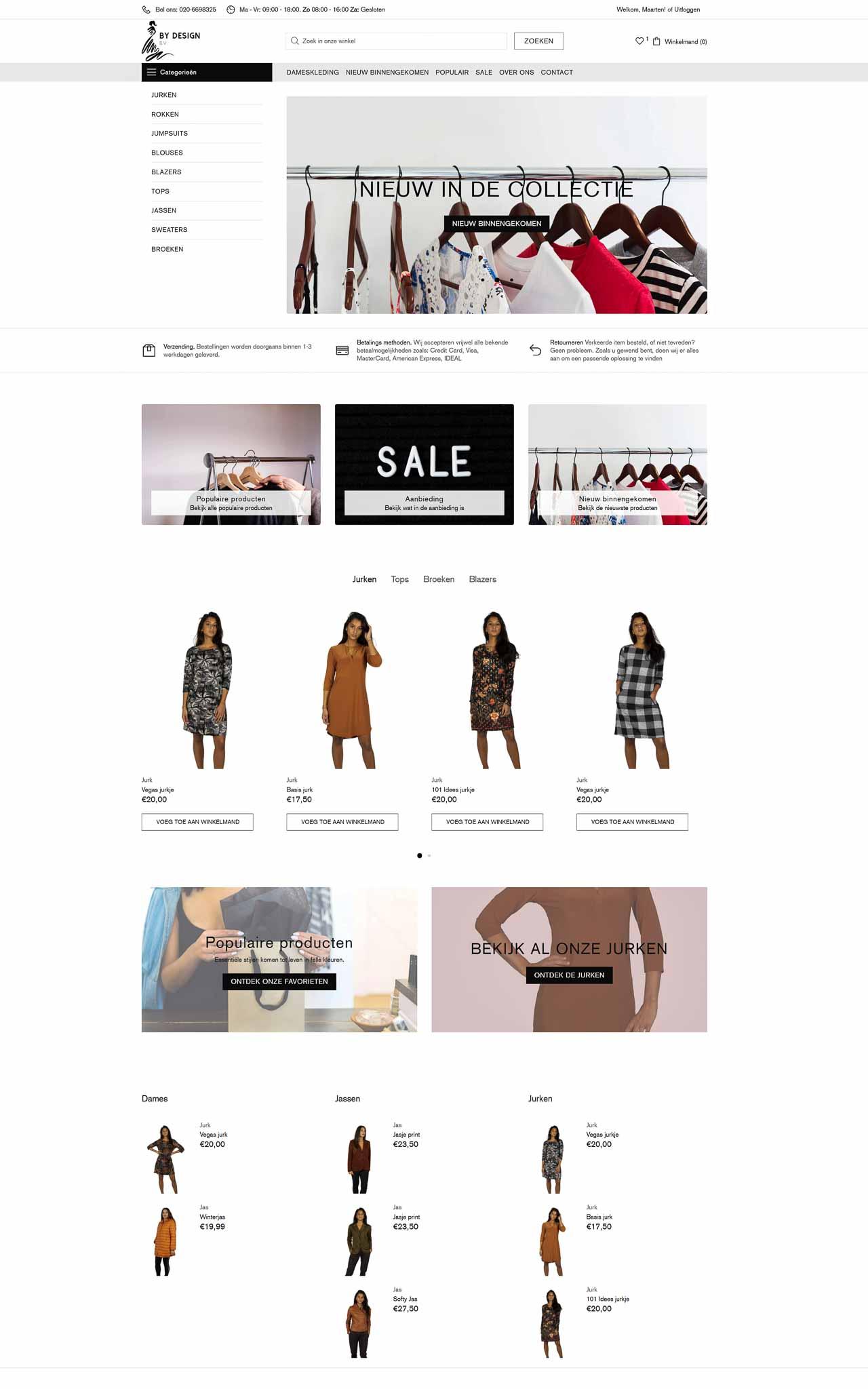 Webshop portfolio