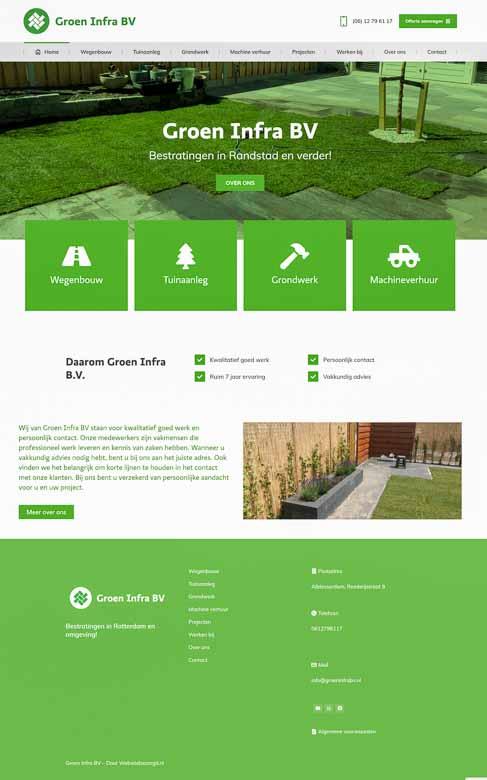 Groen infra bv icoon