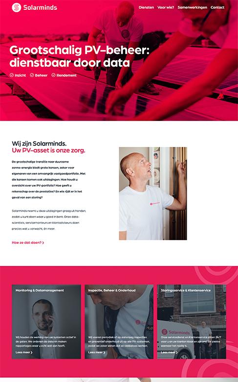 Solarminds Website Design