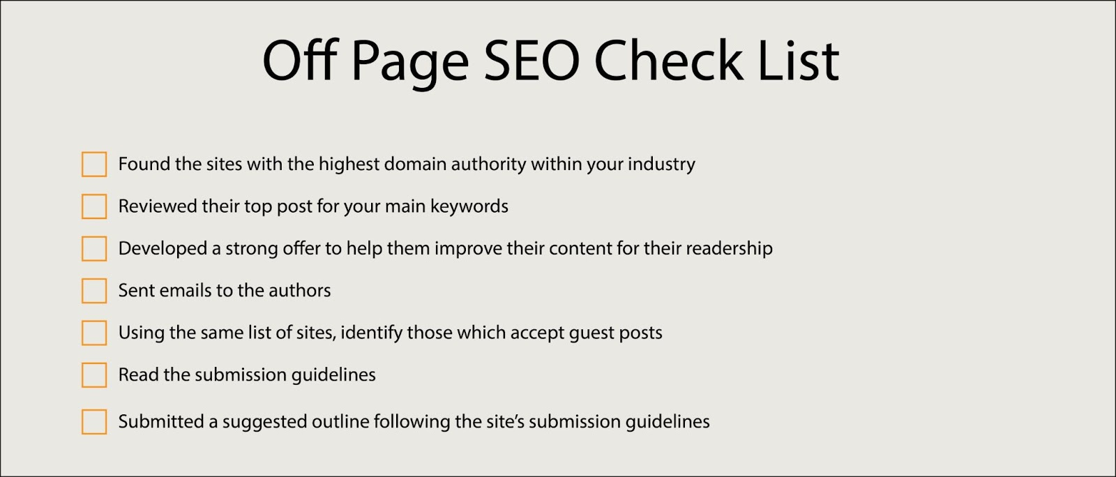 New York SEO Off Page SEO Checklist