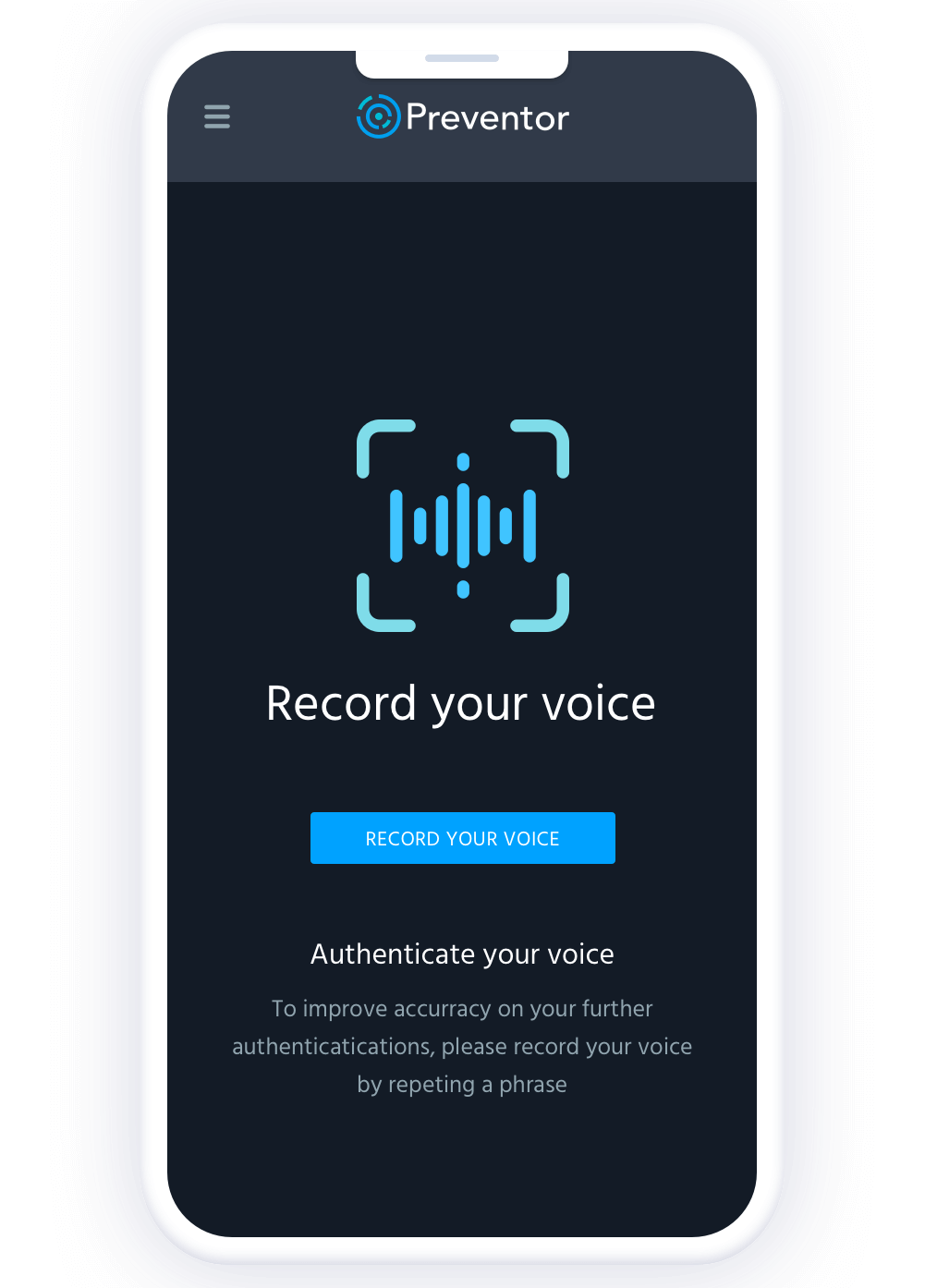 Biometrics voice recognition.