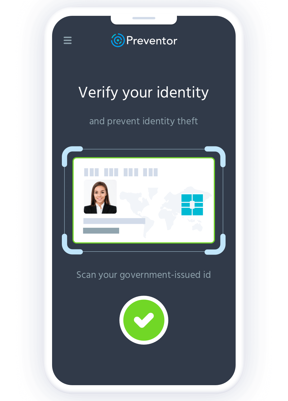 Preventor authenticate the identity verification.