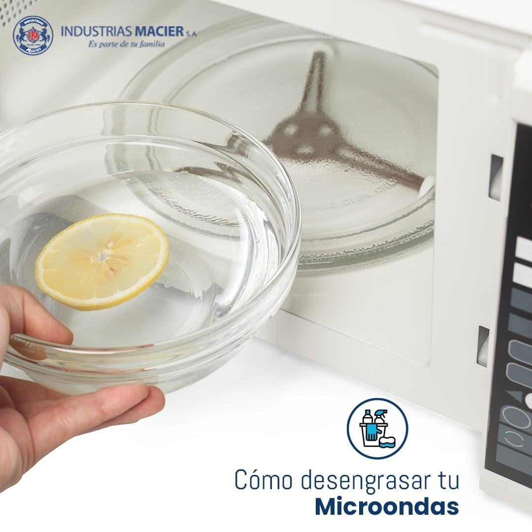 Desengrasa tu microondas