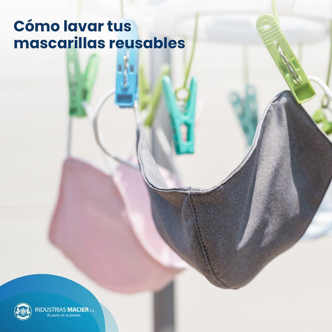 Cómo lavar tus mascarillas reusables