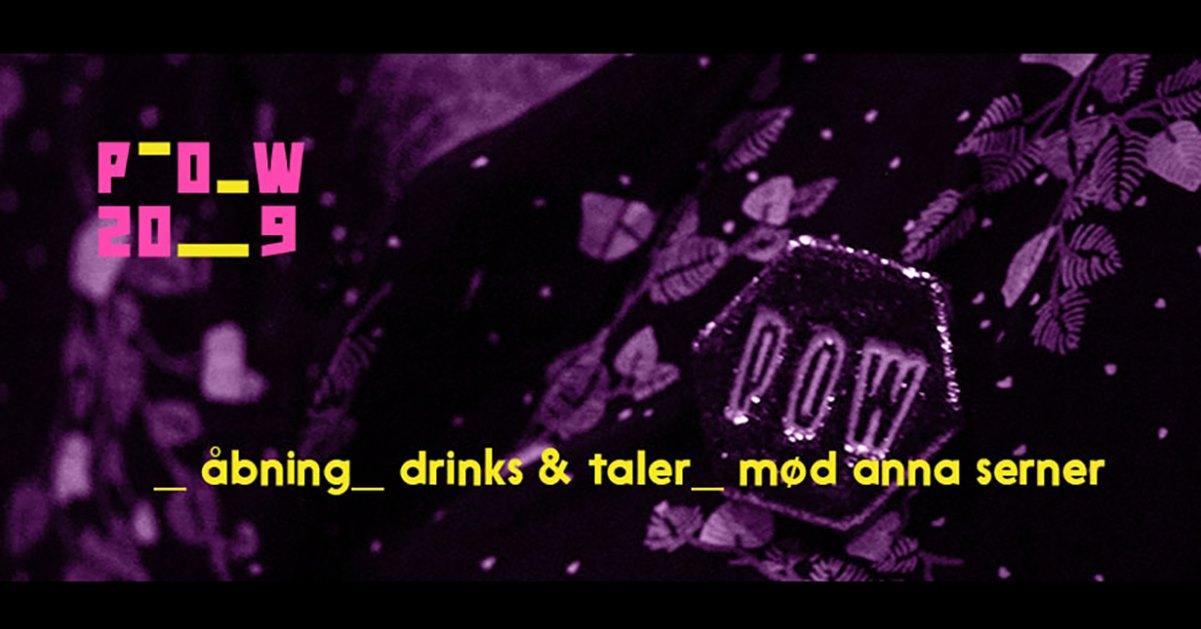 Åbning med drinks og taler