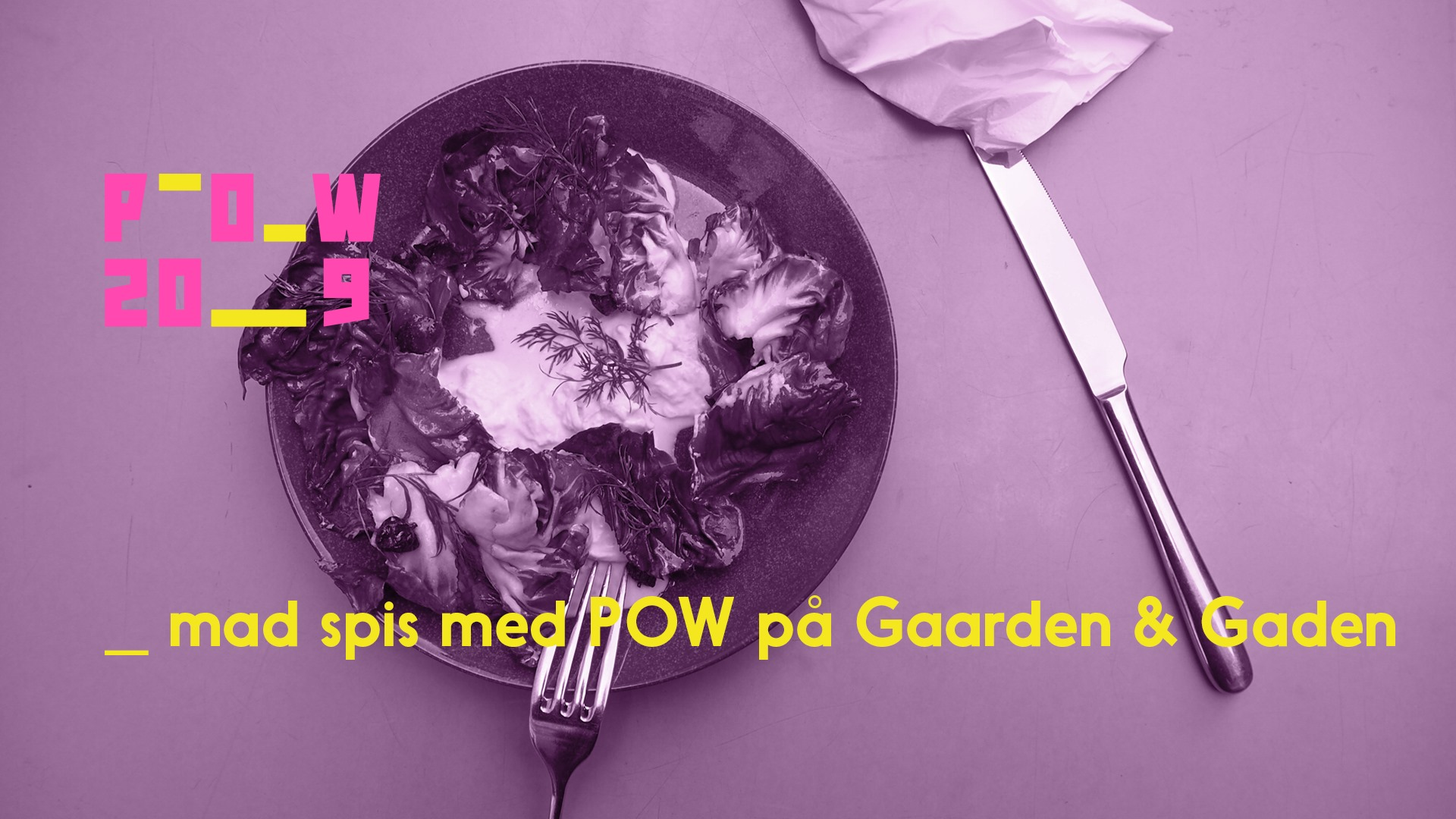 Spis sammen med POW!