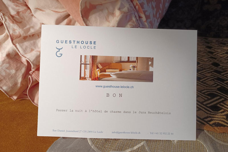 Gift Certificate Guesthouse le Locle