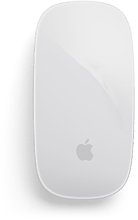 A white Apple mouse